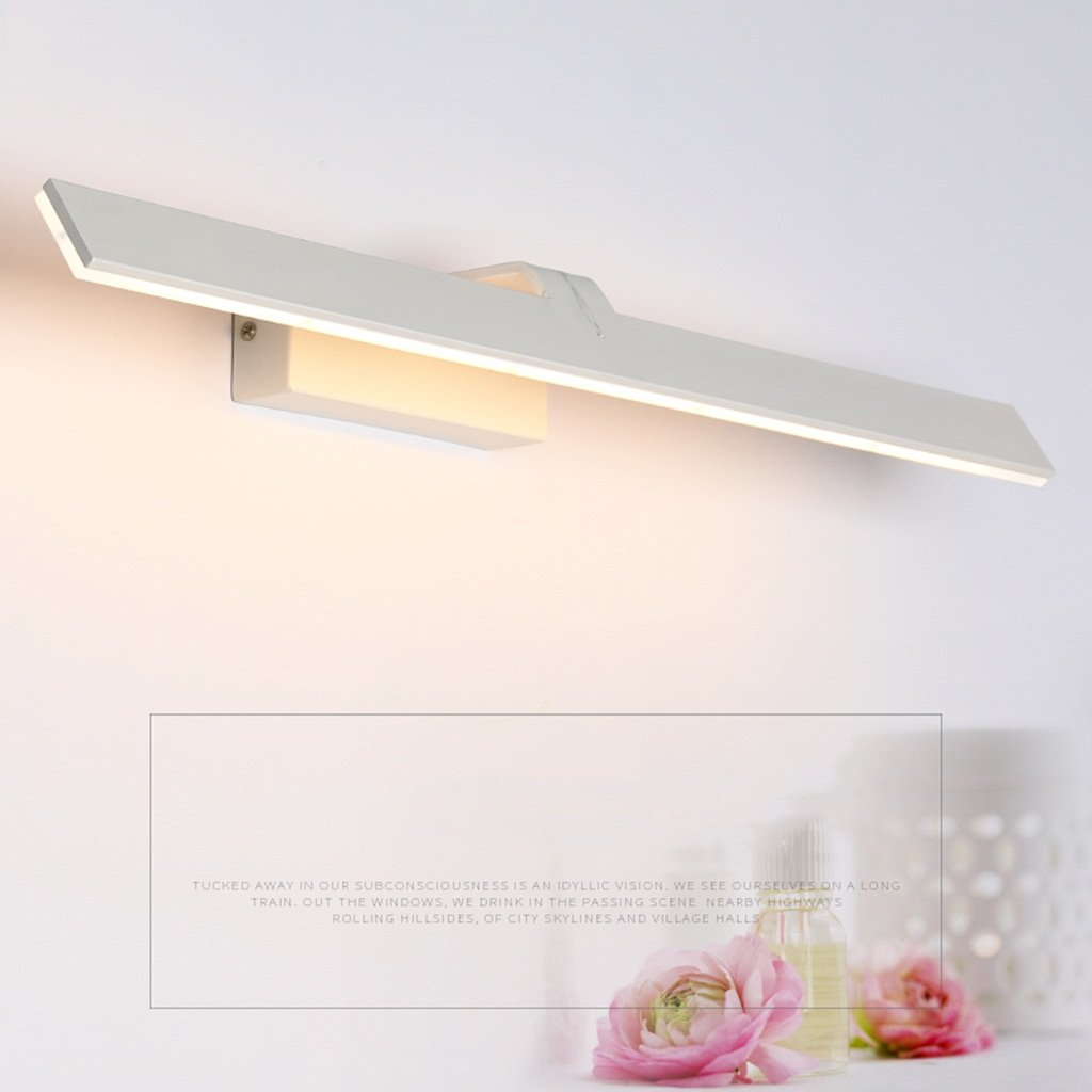 & Spiegellampen Badezimmer führte Make-upspiegellampe, einfaches weißes Badezimmerspiegelkabinettlicht Badezimmerbeleuchtung (Farbe   Warmes Licht-62CM)