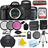 Canon 7D Mark II Digital SLR Camera with EF-S 18-55mm IS STM Lens(Black) + EF-S 75-300mm Lens with SanDisk Ultra 32GB SDHC Class 10 Card + Accessory Bundle