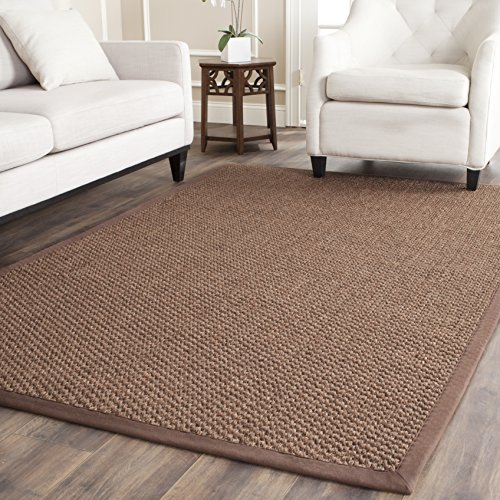 Safavieh Natural Fiber Collection NF525D Chocolate Sisal Area Rug (3