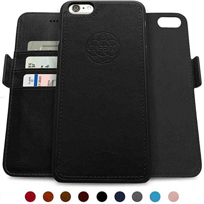 size 40 00e89 01d65 Dreem Fibonacci 2-in-1 Wallet-Case for iPhone 6 & 6s, Magnetic Detachable  Shock-Proof TPU Slim-Case, RFID Protection, 2-Way Stand, Luxury Vegan ...