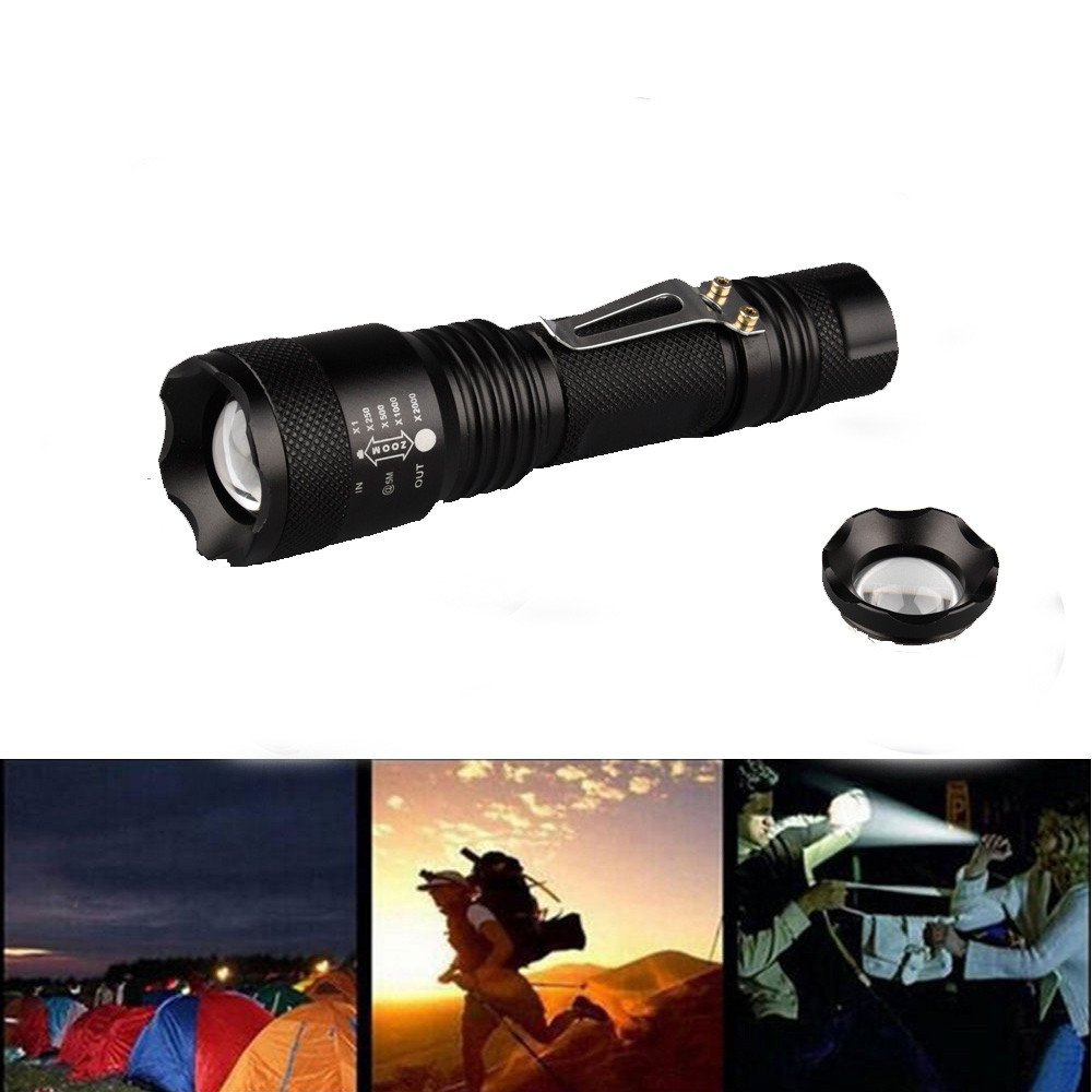 """More_buy FS58-LED Mini T6 Outdoor Tactiacl Long Shot Flashlight Super Bright LED Portable Outdoor, Water Resistant Torch """