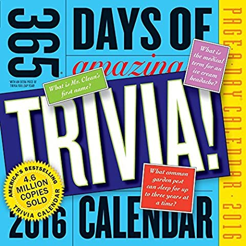 365 Days of Amazing Trivia! Page-A-Day Calendar 2016 by Workman Publishing (2015-08-15) (365 Days Of Amazing Trivia)