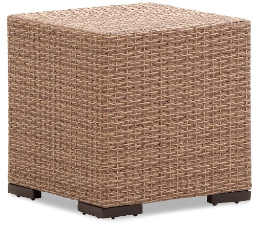 Strathwood Griffen All-Weather Wicker Side Table, Natural