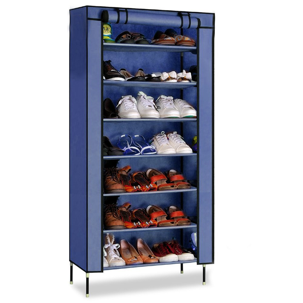 PAffy 7 Tier Cloth Cabinet and Shoe Rack Organiser