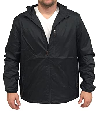Champion Mens Packable Hooded Windbreaker Jacket - Grey - L at ...