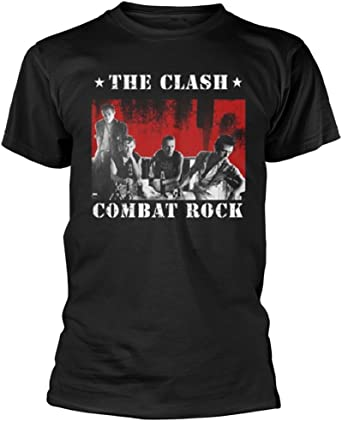 shea stadium THE CLASH band Tshirt; black market