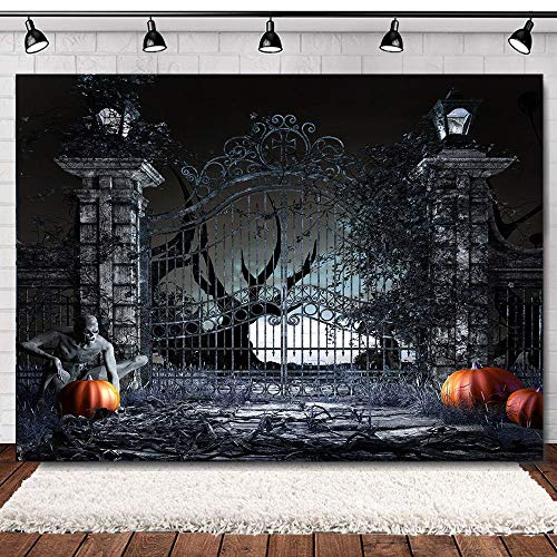 Spooky Photos For Halloween (Scary Halloween Backdrops for Photography Haunted House Horror Skeleton Halloween Photo Background 7x5ft Pumpkin Ghost Spooky Halloween Photo Booth Backdrop Adults Halloween Party)