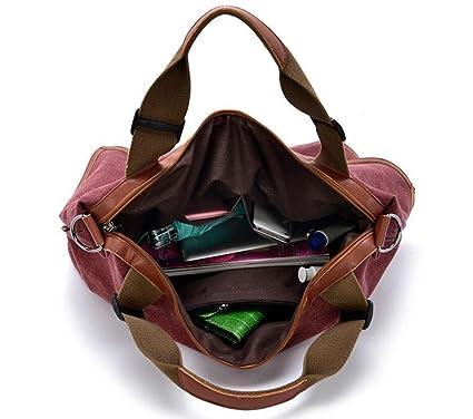 CHAOYANG-Sac à main en toile en cuir épaule portable diagonale polyvalent sacs à main grand sac , blue