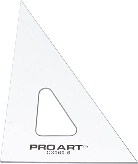 Clear Pro Art 10-Inch 45//90-Degree Triangle