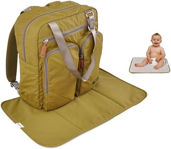 GenialES Mochila Maternal de Pa/ñal Biber/ón Bolso de Mano para Carrito Handbag Mummy Baby Backpack Gran Capacidad Naranja
