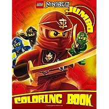 LEGO NINJAGO JUMBO Coloring Book: 100 High Quality Illustrations for Kids and Adults