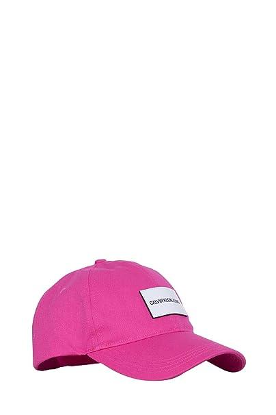 Calvin Klein Jeans Donna - Cappello da Baseball in Twill di Cotone Rosa   Amazon.it  Abbigliamento 5be2f79f7741