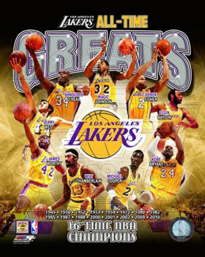 Los Angeles Lakers All Time Greats Composite Photo 8 x 10in (Vip Sports Photos)
