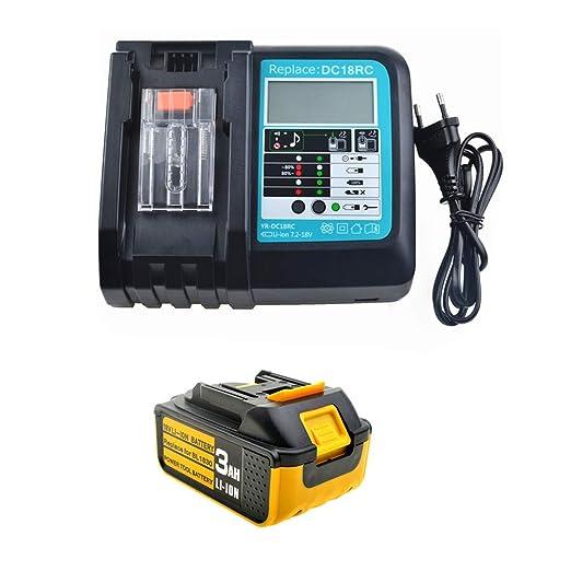 Batería de repuesto de 18 V 3,0 Ah con cargador para cortasetos ...