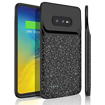 HOTSO Samsung Galaxy S10e Funda Cargador de Batería Externa, [4700mAh Recargable Estuche de Carga Power Bank] Batería Extendida Resistente al Impacto ...