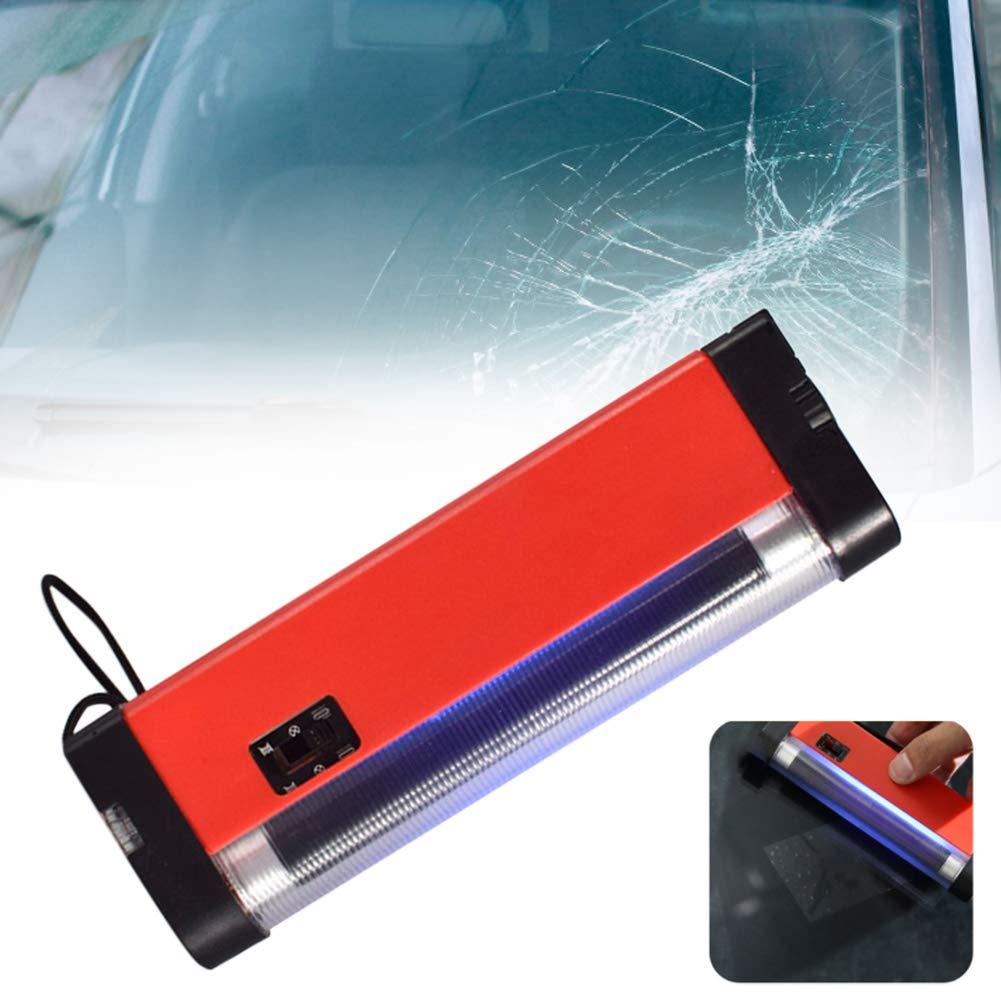 LZDseller01 Lampe de polym/érisation de r/éparation de Pare-Brise Outil de r/éparation de Fissure de Pare-Brise en Verre Lampe de polym/érisation de r/ésine Bricolage Quick Fix Auto