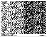 Art Clay World USA Low Relief Texture Plate