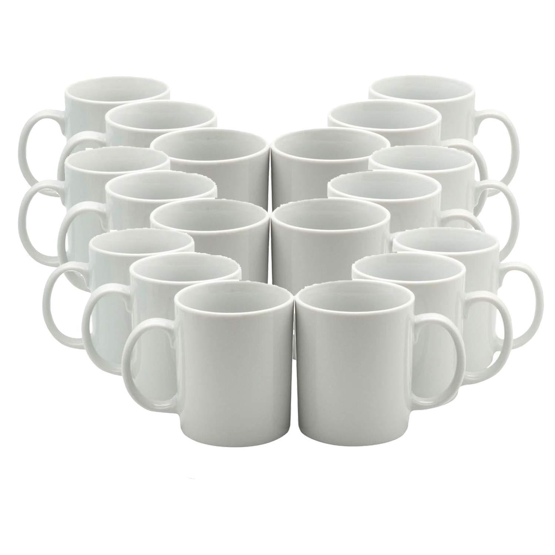 11 oz Sublimation Blank Ceramic Coffee Mugs Case of 36