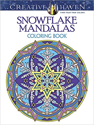 easy snowflake coloring book for adult winter snowflake design for relaxation and stress relief
