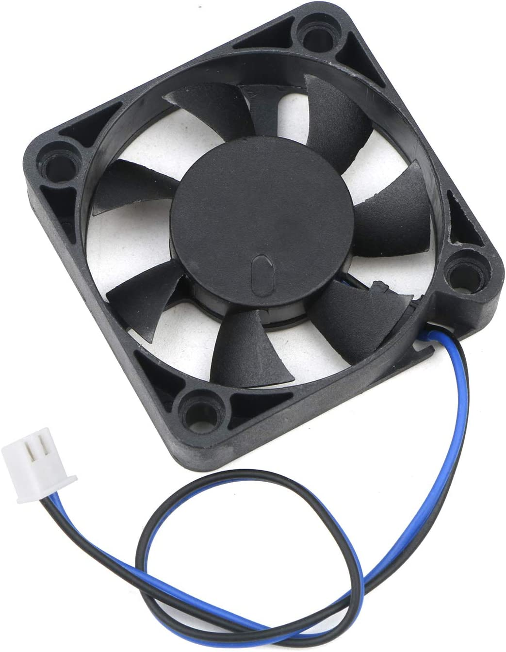 Senmod 50mm X 50mm X 11.5mm 2 Pin Dc 12V 0.18A 6000 RPM Mini Quiet Cooling Fan/ for 3D Printer Computer DVR,DIY Cooling Ventilation Exhaust Projects Sleeve Bearing 7 Blades Pack of 4