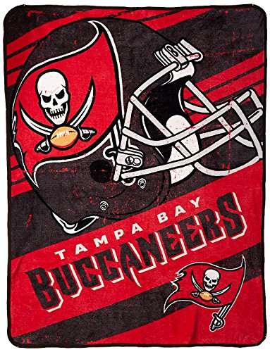 The Northwest Company Officially Licensed NFL Tampa Bay Buccaneers Deep Slant Micro Raschel Throw Blanket, 46