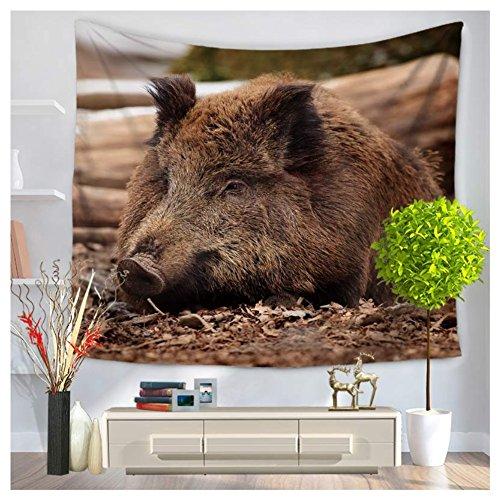 Tapestry Series Blanket (Betterwish New Wall Hanging tapestry Wild boar series hanging beach towel blanket (L: 210150 cm(83