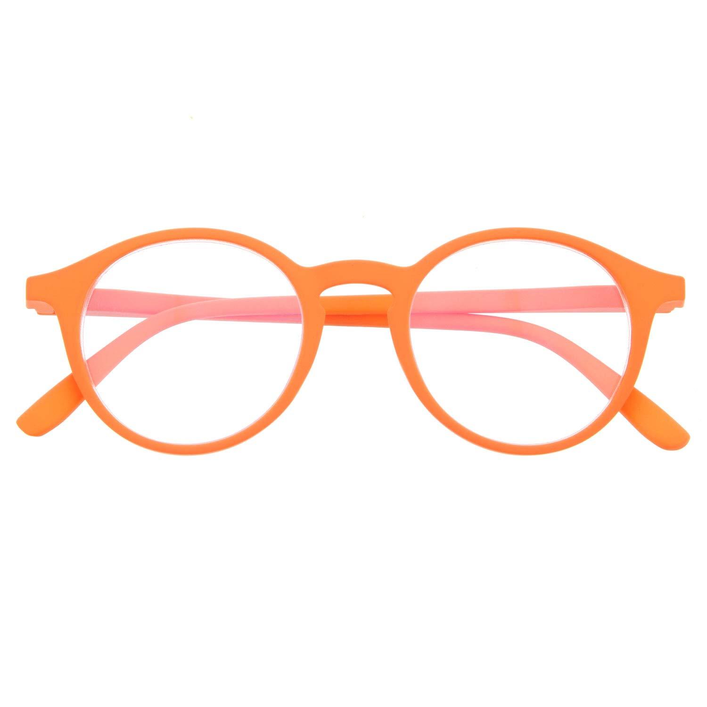 Gafas con Filtro Anti Luz Azul para Ordenador 6 colores y 6 graduaciones UFFIZI Patillas Flexibles y Cristales Anti-reflejantes Tacto Goma Gafas de Presbicia o Lectura para Hombre y Mujer