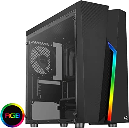 Montech Flyer White//Micro ATX//Mini-ITX//Pre-Installed 2 Fans//High-Airflow//Computer Gaming Case//Hairline Surface Front Panel//RGB LED Shinning Strip//Three Versions Lighting Effects