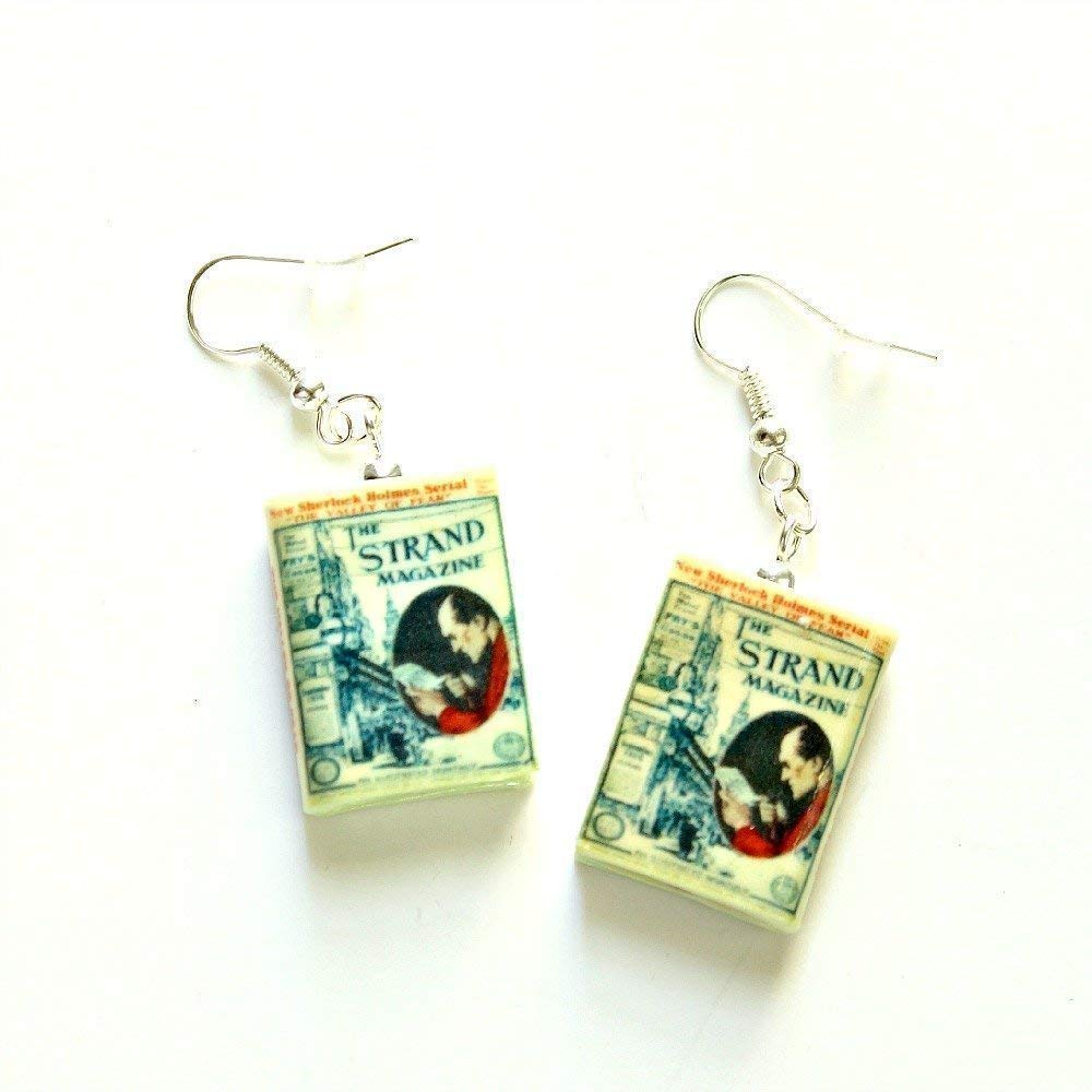 Valley of Fear Sherlock Holmes Arthur Conan Doyle Clay Mini Book Earrings Choose Your Hardware