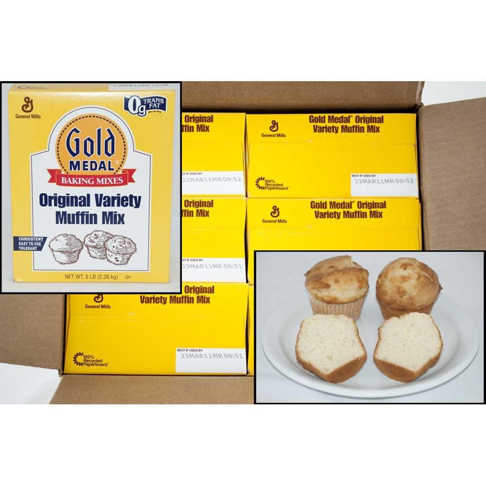 Gold Medal Original Variety Muffin Mix 6 Case 5 Pound