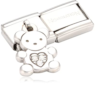 Nomination Composable Women's Bead Classic Charms 925 Silver Teddy Bear 4Ly9Td