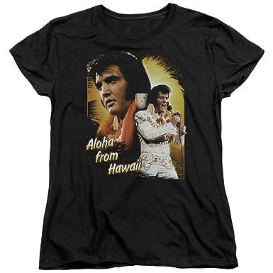 93174c1e1 Amazon.com: Elvis Presley - Aloha from Hawaii - Women's Cap Sleeve T ...