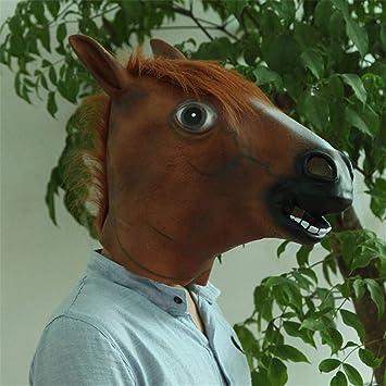 NUOKAI Cosplay máscara de Caballo máscara de Caballo máscara de Peluca Perro Caballo Caballo año máscara