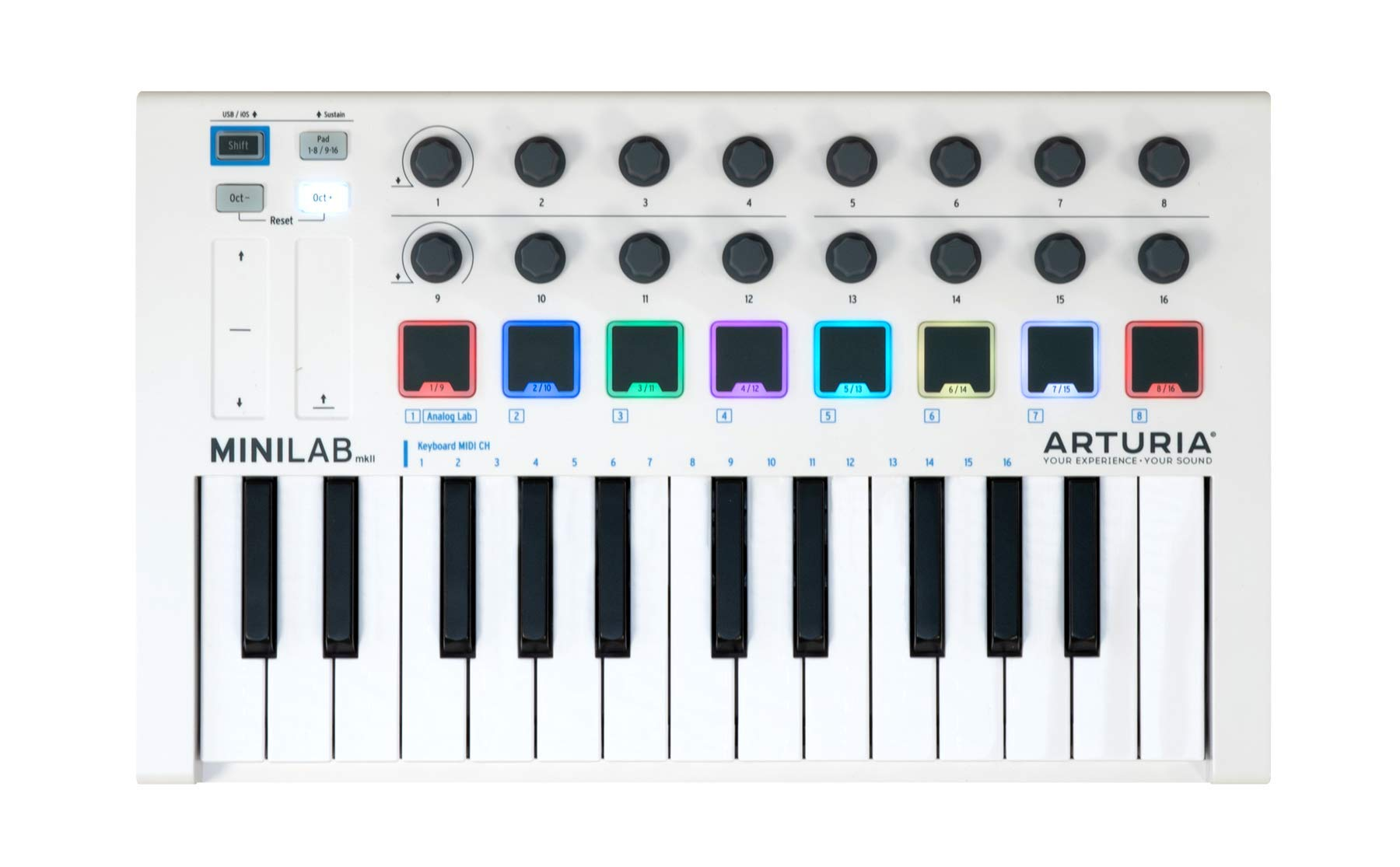 Arturia MiniLab MkII 25 Slim-Key Controller - Best MIDI Controller with Inbuilt Mapping