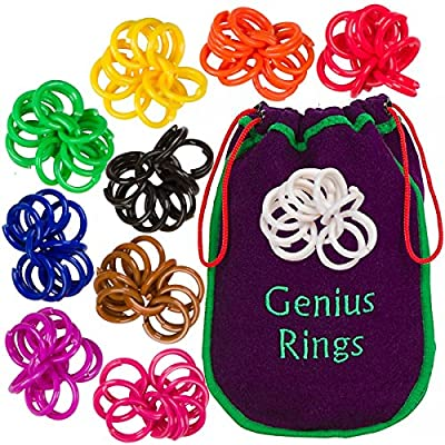 Genius Baby Project Genius Rings Chinese Jacks Toy Educational Math Counting Rings: Toys & Games