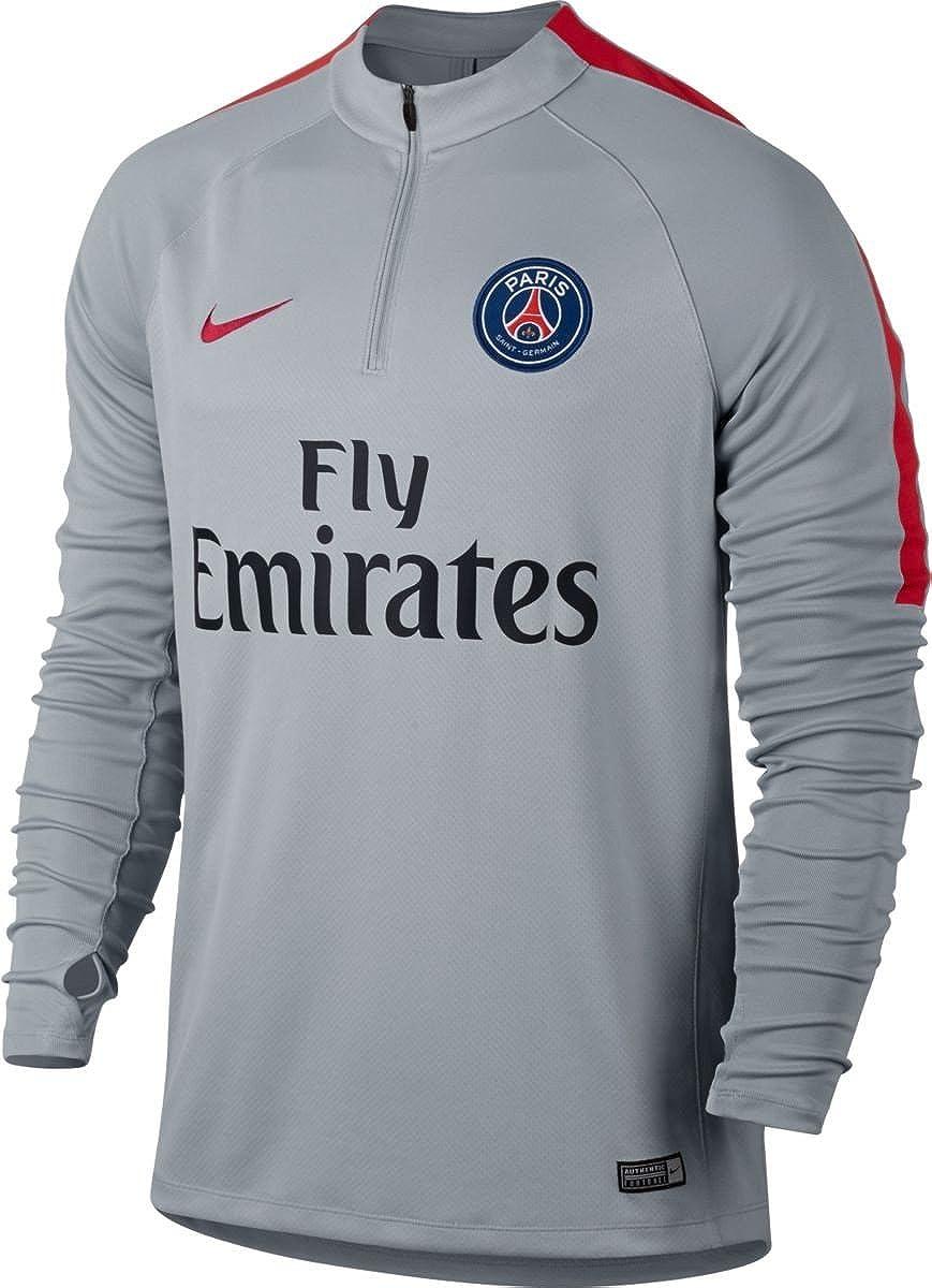 Nike Psg M Nk Sqd Dril Camiseta de Manga Larga París Saint-Germain ...
