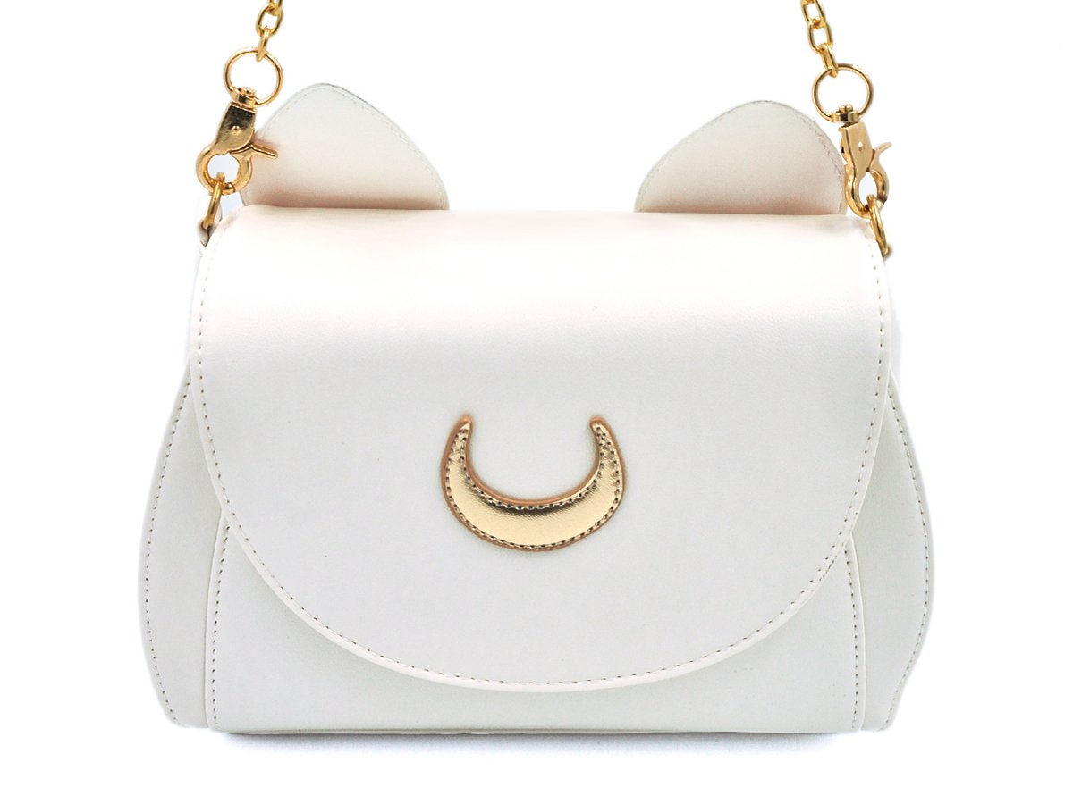 CoolChange Sailor Moon handbag made of PU leather with cat' s ears, color: black