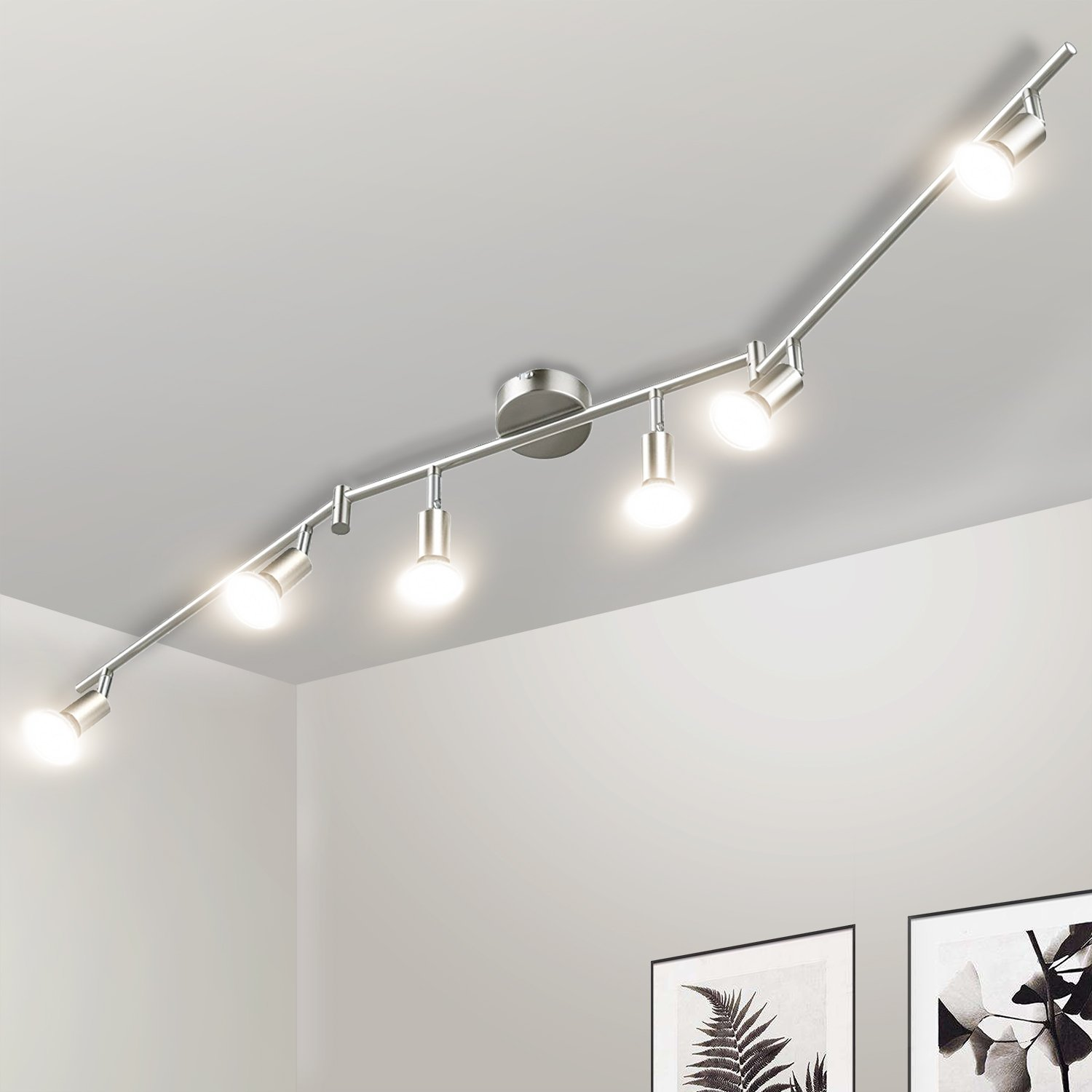 Interesting amazing affordable plafonnier spots led grtec spots de plafond plafonnier de salon - Luminaire plafond rampant ...