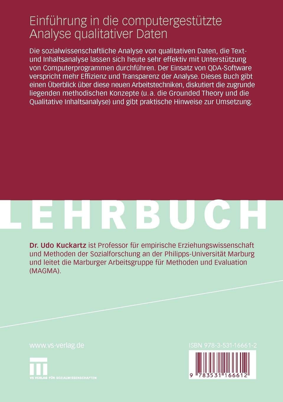 Einführung in die computergestützte Analyse qualitativer Daten (German Edition)