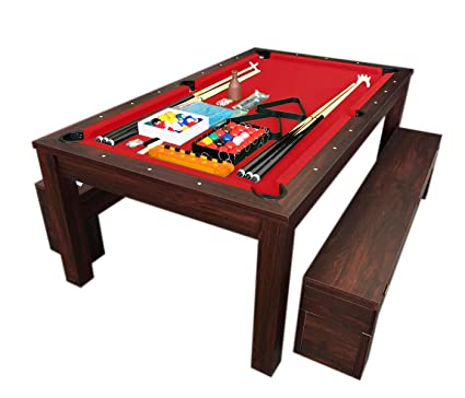Tremendous Simba Usa 7Ft Pool Table Billiard Red Become A Dinner Table With Benches M Rich Red Gmtry Best Dining Table And Chair Ideas Images Gmtryco