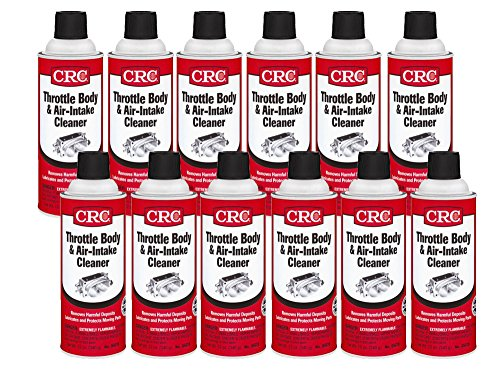 CRC 05078-12PK Throttle Body & Air Intake Cleaner, 12. Fluid_Ounces, Pack ()