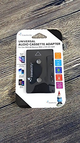Ipod, Mp3 Travelocity Black Audio Cassette Adapter 3.5mm for Iphone