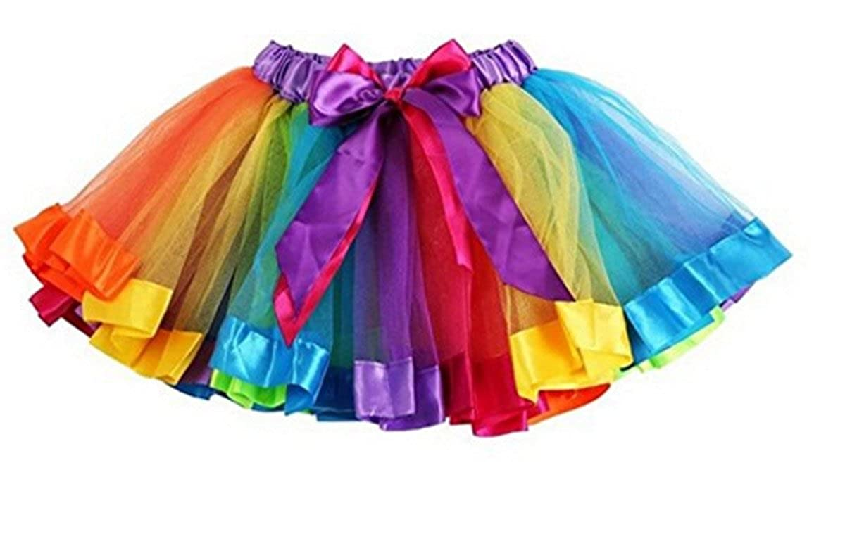 16c218ff21 Girls Rainbow Tutu Skirt Petticoat Multicolour Dress Kids Ballet Princess  Dance: Amazon.co.uk: Clothing