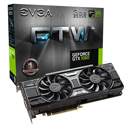 - EVGA GeForce GTX 1060 3GB FTW+ GAMING ACX 3.0, 3GB GDDR5, LED, DX12 OSD Support (PXOC) Graphics Cards 03G-P4-6367-KR