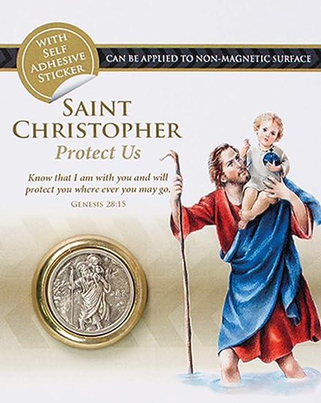 M/édaille aimant de r/éfrig/érateur Plaque de tableau de bord magn/étique de Saint Christophe