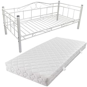 Vidaxl Metallbett Einzelbett Tagesbett Metall Bett Bettgestell