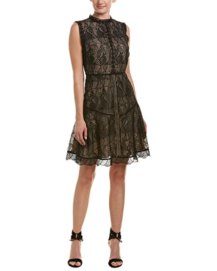 Amazon Reiss Womens Tori Lace A Line Dress 8 Black Clothing