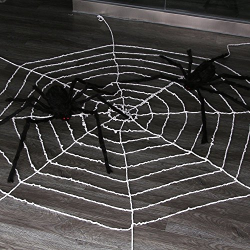 9.85ft Spiders Web,Amyhomie Spider Web for Halloween,Best Halloween Decorations (Halloween Decorations Spider Web)