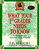 What Your First Grader Needs to Know, E. D. Hirsch, 0385310269