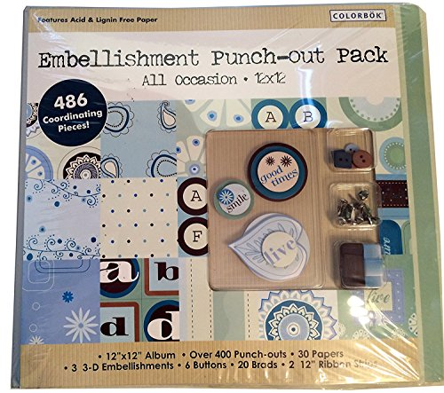 "Colorbok Embellishment Punch-out Pack All Occasion 12""x12"" Album"